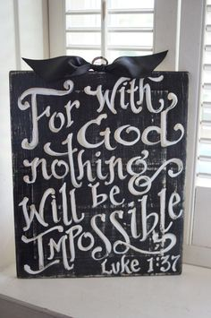 Nothing Is Impossible Sign  dorm room  encouragement by kijsa encouragement, dorm room signs, dorm sign, wood signs, imposs, dorm rooms, colleg, dorm idea, dorm room quotes
