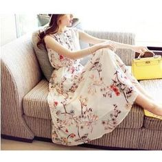 Buy Dowisi Sleeveless Floral Print Dress at YesStyle.ca! Quality products at remarkable prices. FREE SHIPPING to Canada on orders over CA$45.