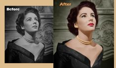 Colorize black and white photo refers to transform an old photograph into a modern coloring gesture full image by applying few Photoshop filters. Photoshop Filters, Photo Retouching, Black And White, Movie Posters, Image, Color, Women, Art, Fashion
