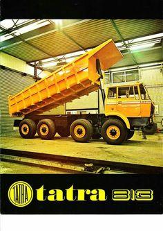 tatra tatratruck tatrapower dumper dumptruck sklapac aircooled diesel equipment heavyequipment old history Dump Trucks, New Trucks, Cool Trucks, Motor Car, Auto Motor, Motor Sport, Equipment Trailers, Old Tractors, Steyr