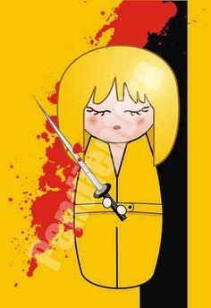 Kokeshi Beatrix (Kill Bill, Tarantino) by Pendientera  http://iluztracion.wordpress.com/