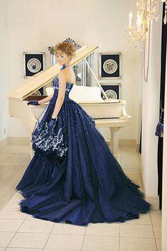 ブルー・グリーン【PFD】 | ウェディングドレスのレンタル専門店|大阪 | Wedding Salon Prece(プレーチェ)