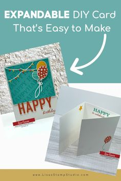 This expandable DIY card is easy to make and perfect when you need a card with ample room to write or many signatures. Let me show you how to make this! www.LisasStampStudio.com #expandablecard #expandingcard #diycard #diybirthdaycard #birthdaygreetingcards #handmadebirthdaycard #lisacurcio #lisasstampstudio #stampinup #stampinupcards Birthday Cards Images, Birthday Cards For Friends, Birthday Greeting Cards, Card Making Supplies, Card Making Tutorials, Card Making Techniques, Handmade Cards For Friends, Handmade Birthday Cards, Fun Fold Cards