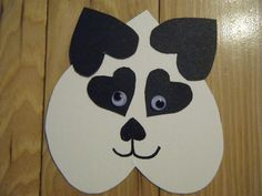 Panda Bear made with hearts!  Really cute for Valentine's day, or for an animal or black and white theme.
