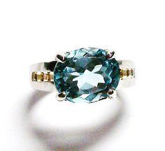 Blue topaz ring sky blue topaz topaz topaz by Michaelangelas, $89.99