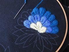 Flor en azules