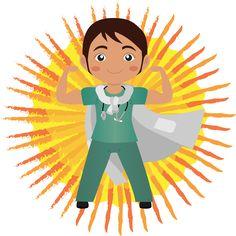 Super medico. Un super medico, un'illustrazione per un corso di formazione. #giuliabasolugrafica #graphic #illustration #drawing #illustrator #digitalart #vector
