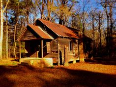 Old cabin at Cahawba Alabama.
