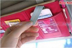 Online Shop Fashion Style Car Sunvisor Point Multi Pocket Hang Storage Organizer Arrangement Bag of Sun Visor 3 Colors|Aliexpress Mobile