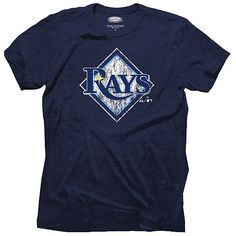Tampa Bay Rays Triblend Logo T-Shirt by Majestic Threads