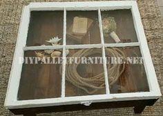 Mueblesdepalets.net: Mesa construida con palets y una ventana