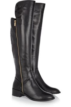 MICHAEL Michael Kors | Berkley leather and patent python-effect knee boots. An update to the Bromley Boots from last season.