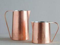 #Copper pitchers. #adoredecor