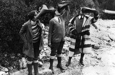 fran, ruth, + joann in the canadian rockies, 1929