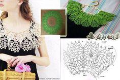 Crochet collar pattern