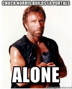 #Ingress #Memes #ChuckNorris L8 portals alone