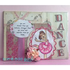 Dance canvas I created featuring Ballerina Gwen. This is a digital stamp by Some Odd Girl.