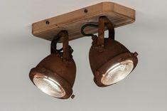 Plafondlamp 12594: industrie, look, landelijk, rustiek #0 Track Lighting, Toilet, Garage, Ceiling Lights, Home Decor, Night Lamps, Creativity, Log Projects, Carport Garage