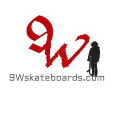 9Wskateboards.com logo and skater