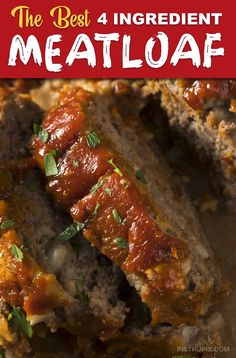 Easiest and BEST Meatloaf You Will Ever Make The BEST meatloaf! My family loves this recipe. Just 4 simple ingredients!The BEST meatloaf! My family loves this recipe. Just 4 simple ingredients! Good Meatloaf Recipe, Meat Loaf Recipe Easy, Meatloaf With Stuffing Mix Recipe, Stove Top Stuffing Meatloaf, Meatloaf In Oven, Stove Top Recipes Stuffing, Meatloaf With Bacon, Meatloaf In Crockpot, Steak Recipes