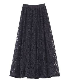 Hollow Out Lace Crochet Long Skirt...$41.