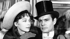 """Leslie Caron, in the title role of """"Gigi"""", and Louis Jourdan as playboy Gaston. 