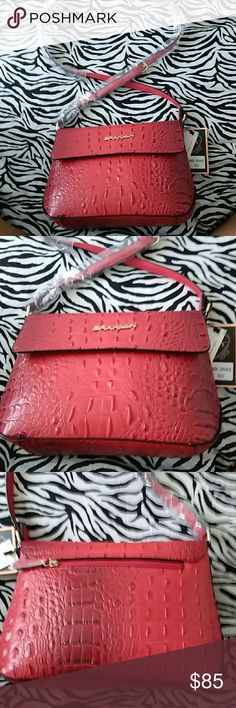 """Red Crossbody  Purse INSPIRED bag with red crocodile print. Measurements 12""""L 10""""H 5""""W Crossbody Bags Crossbody Bags"""