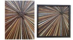Reclaimed Wood Starburst Wall Art Sculpture by AlleyCatDesignSt
