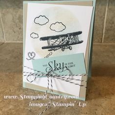 Sky is the Limit, Stampin' Up! Cards, Vintage Plane