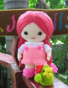 Jazzy the Flower girl - Amigurum doll
