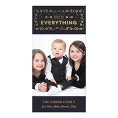 Everything Sparkle Holiday Photo Card - Black  Click on photo to purchase. Check out all current coupon offers and save! http://www.zazzle.com/coupons?rf=238785193994622463&tc=pin  #cards #holidays #christmas  #christmascards #photos #photocards #believe #greetings #holidaycards  #xmas #xmascards #greetingcards #personalized #customized