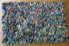 Beautiful proddy rug by primitivespirit on Flickr