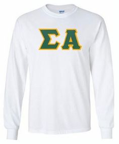 Sigma Alpha Lettered Long Sleeve Tee