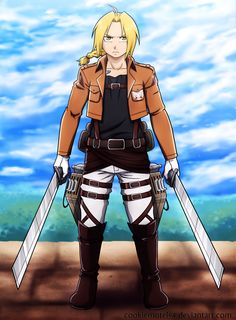 FMA and Attack on Titan crossover by cookiemotel94//I don't watch Attack on Titan, but maybe...soon. :D