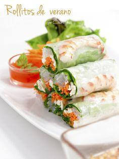 rollitos, comida vietnamita, cocina asiatica