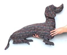 Big Dog Dachshund Pillow Kids Room Decor House Stuffed Dog Whimsical Dog Doggy Sweet Soft Toy Funny Animal Gift for Kids For animal lovers - pinned by pin4etsy.com