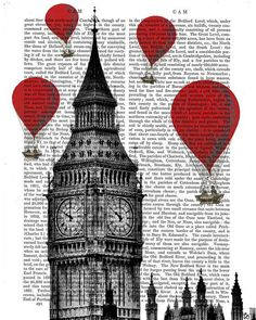 Red Hot Air Balloons Over Big Ben London (FabFanky)