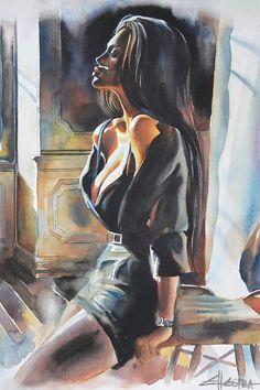 Bd Pop Art, Arte Obscura, Aesthetic Art, Aesthetic Drawing, Aesthetic Vintage, Digital Art Girl, Art Drawings Sketches, Portrait Art, Erotic Art