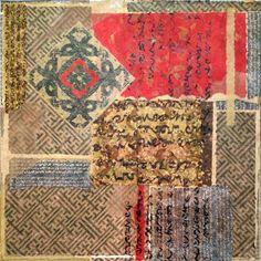 """Saatchi Art Artist: Heidi Lewis Coleman; Paper 2014 Collage """"Fretwork Assemblage"""""""