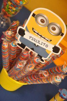 Unicorn Lollipops Despicable Me Minion Party via Kara's Party Ideas Kara'sPartyIdeas.com #Minion #PartyIdeas #Supplies (28)