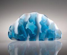 Peter Bremers, Icebergs & Paraphernalia 220, 2012, glass, 11 x 20.5 x 3 in. Photo: Paul Niessen