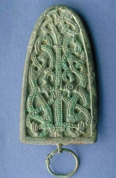 Pair of Viking Strap End Brooches - Reproduced as Museum Replicas by feedtheravens