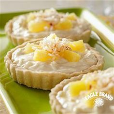#Tropical Tartlets with Toasted #Coconut from Eagle Brand®