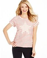 Style&co. Sport Striped Star Tee