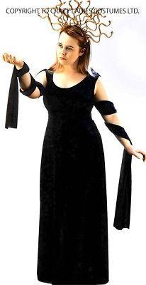 Halloween-Scary-Evil-Myth-Legend-Greek-Ladies-MEDUSA 2 COSTUME ALL SIZES