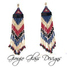 Indian Rust and Slate Native American Earrings