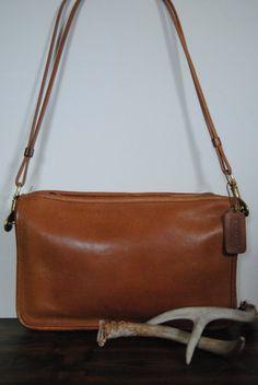 Rare Bonnie Cashin Leather Coach Bag by hunterdear on Etsy, $73.00