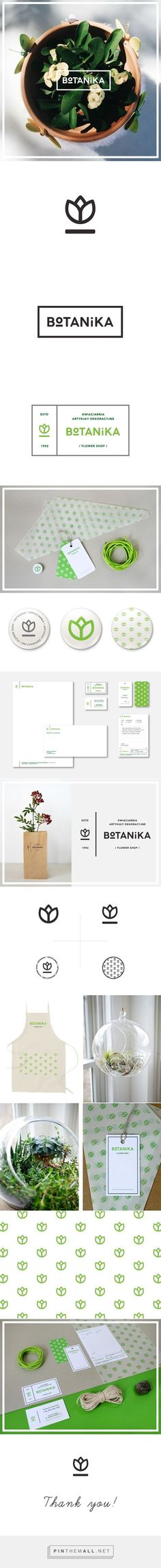 Logos Botanika | flower shop on Behance                                                                                                                                                                                 More
