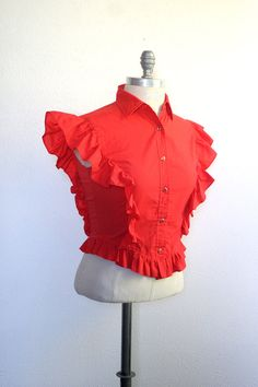 vintage western shirt / ladies western shirt / pear by dingaling, $28.00
