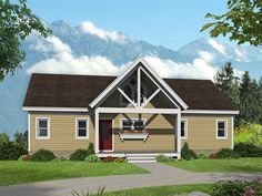 062H-0263: Mountain House Plan Designed for a View Cottage Style Homes, Ranch Style Homes, Mountain House Plans, Contemporary Style Homes, Country Style House Plans, Best House Plans, House Stairs, Build Your Dream Home, Floor Plans